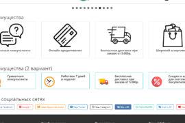 CMS OpenCart 3.0 иконки социальных сетей (1 вариант)